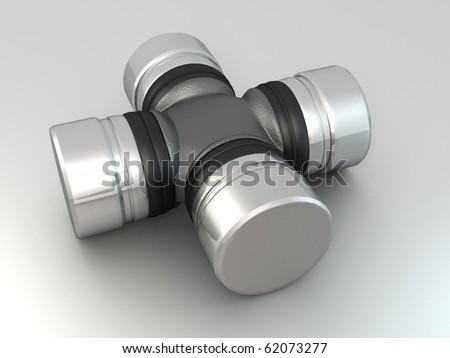 cross-piece auto parts - stock photo