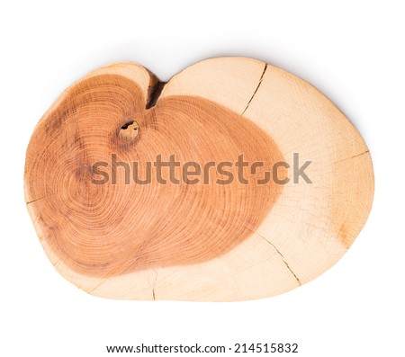 Cross section Juniper texture, isolated on white background - stock photo