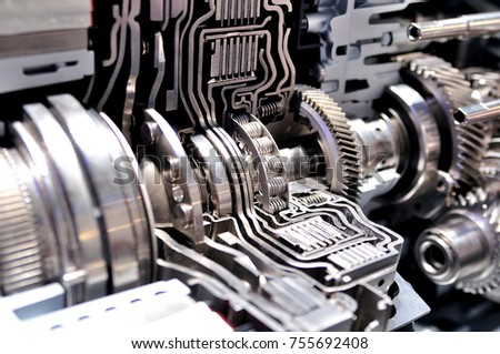 cross section hybrid car automatic transmission stock photo 755692408 shutterstock. Black Bedroom Furniture Sets. Home Design Ideas