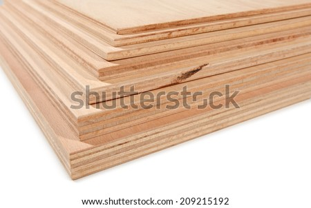 cross-section of plywood, different thickness 1 - stock photo
