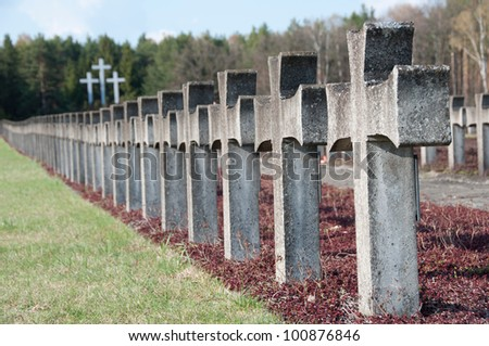 crosses in place of martyrdom - stock photo