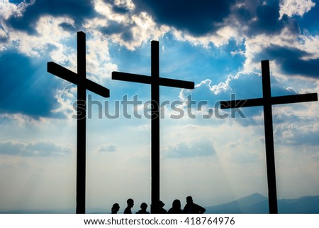 Crosses in the sky