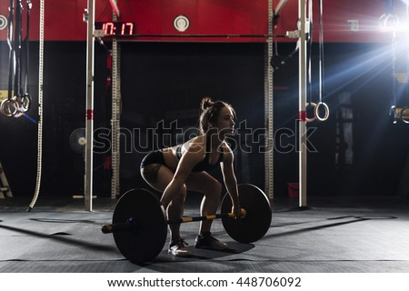 Crossfit with weight - stock photo