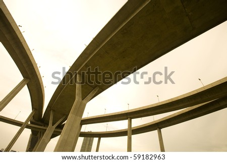 crossing highway - stock photo