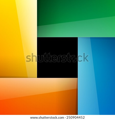 Crossing shiny colorful paper rectangles background - stock photo