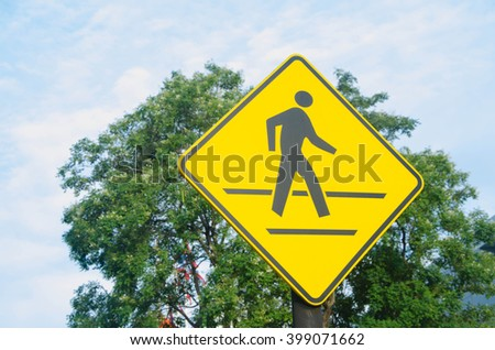 crossing Signs - stock photo
