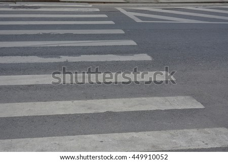 Crosswalk in an abstract picture
