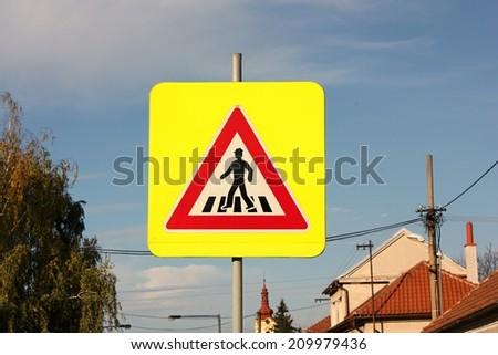 Crosswalk sign - stock photo