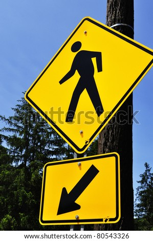 Crosswalk Sign, Durbin, West Virginia, - stock photo
