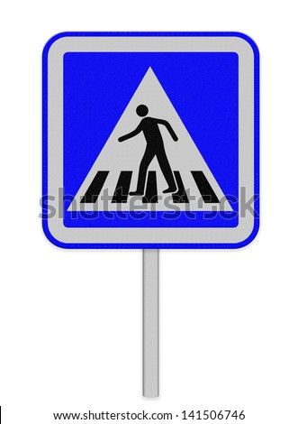 crosswalk sign with a man walking