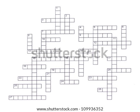 Crossword puzzle close-up - stock photo