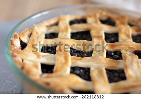 crostata, italian homemade tart - stock photo