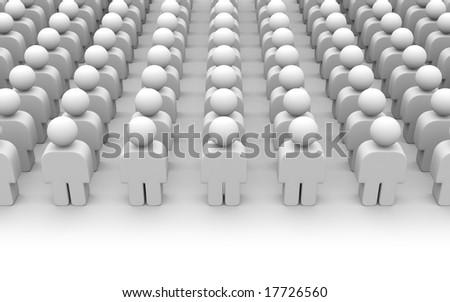 Crowd - stock photo