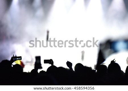 Crowd at a live concert