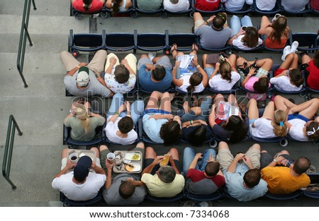 Crowd enjoying a game - stock photo