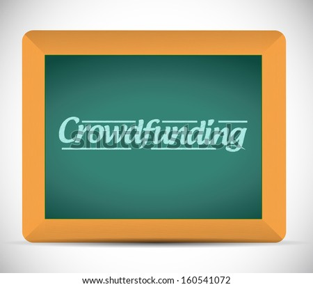 crowd funding illustration design over a chalkboard - stock photo