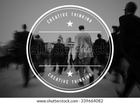 Crowd of businessmen on their way to work. - stock photo