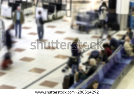crowd of people blurred background - stock photo