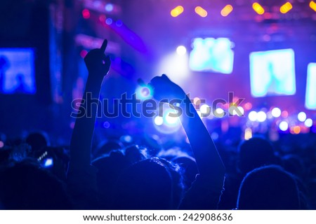 Crowd on a concert - stock photo