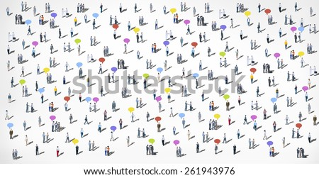 Crowd People Community Concept  - stock photo
