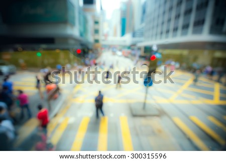 crowded city blurred for background - stock photo