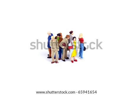 crowded people on travel - stock photo