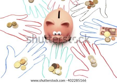 Crowdfunding  - stock photo