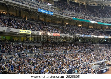 Crowds of Baseball fans at Petco Park - home of the Padres