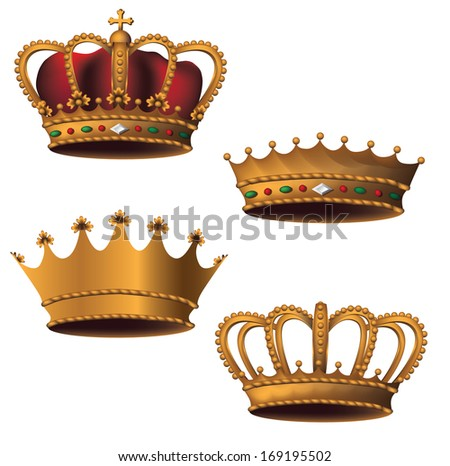 Crown collection. Jpg. - stock photo