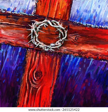 crown of thorns digital painting/crown of thorns - stock photo