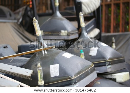 crt monitor waste - stock photo