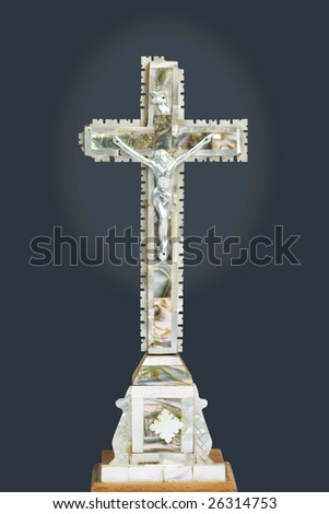 Crucifix with clipping path