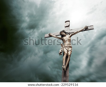 crucifixion of Christ - stock photo