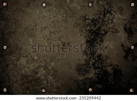 crude metal background - stock photo