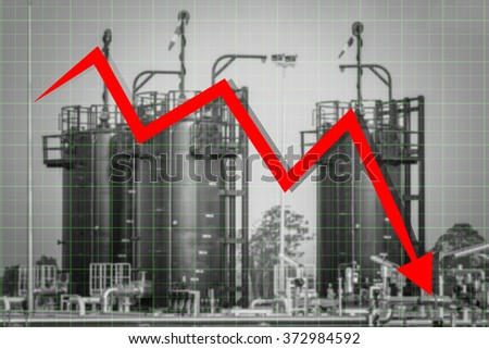 Crude Oil are low price - stock photo
