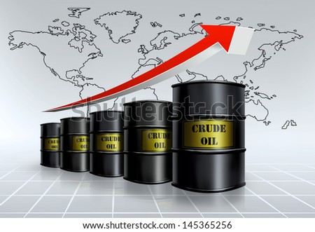 crude oil growing - stock photo