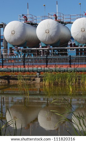 Crude Oil Tank - stock photo