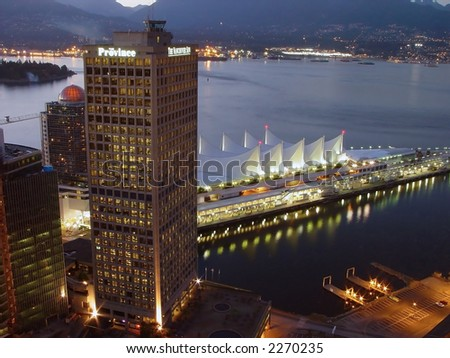 Cruise line terminal from Vancouver, Canada - stock photo