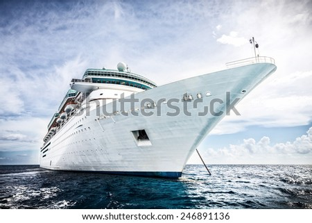 Cruise ship  - stock photo