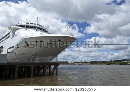Cruise Ship at Port of Brisbane