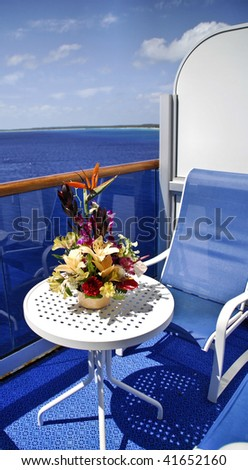 cruise ship deck patio