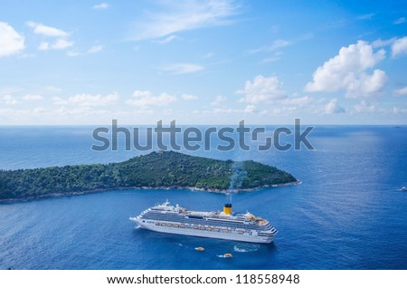 Cruise ship in Dubrovnik, Croatia