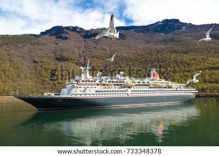Cruise Ship Norway Sunny Day Stock Photo Shutterstock - Cruise ship norway