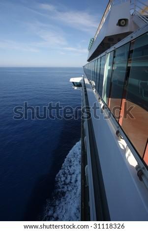 Cruise ship sailing - stock photo