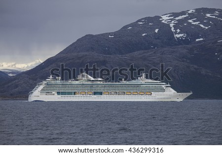 Cruise skip.Serenade of the Seas - Royal Caribbean International.Northern Norway,Tromso 10.06.2016