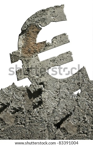 crumbling euro - stock photo