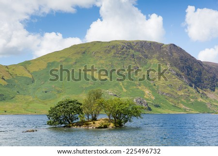 Crummock Water Lake District North West England UK between Buttermere and Loweswater - stock photo