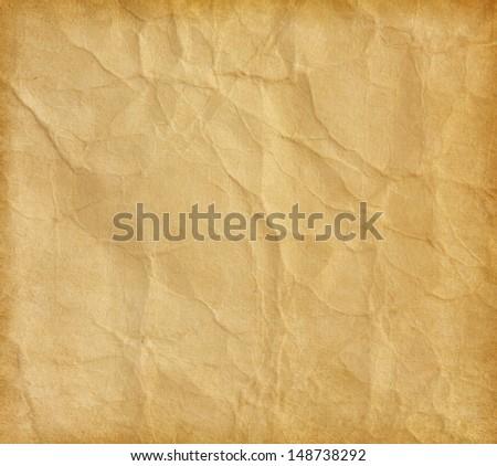 crumpled beige paper - stock photo