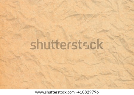 Crumpled brown paper for background
