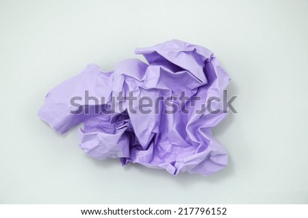 Crumpled Color Paper isolated on white background